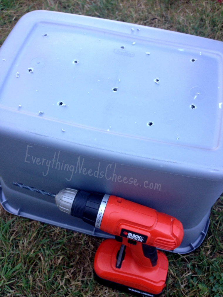 drill-10-20-holes-in-the-bottom-of-the-storage-container-diy-worm-bin-instructions-via-everything-needs-cheese